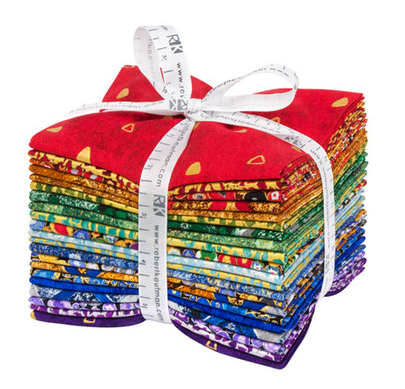 Gustav Klimt Multi Fat Quarter Bundle by Robert Kaufman | Royal Motif Fabrics