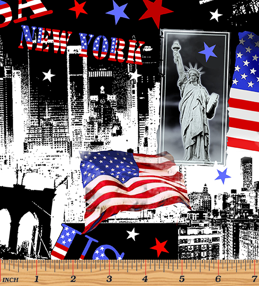 Red, White & True, Let Freedom Ring by Kanvas Studio for Benartex 9704-99