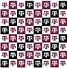 Licensed Colleges Fabrics - Texas A&M University | Cotton Digital Print