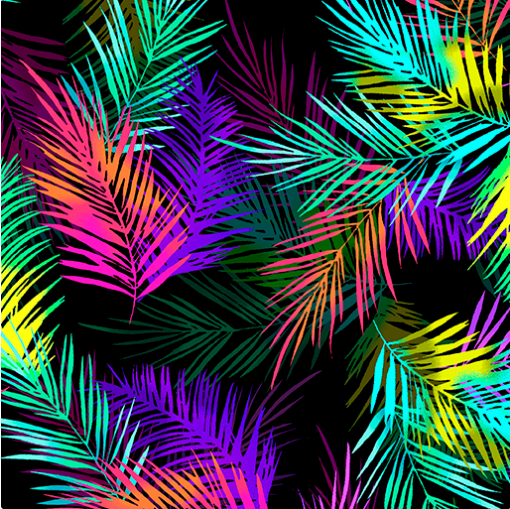 Tropical Breeze - Island Palm Leaves Multi by Kanvas Studio/Benartex 9723-99