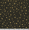 Holiday Flourish 13 - Gold Dots/Stars on Black by Robert Kaufman SRKM-19259-2