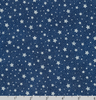 Holiday Flourish 13 - Silver Dots/Stars on Navy by Robert Kaufman SRKM-19259-9