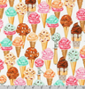 Sweet Tooth - Ice cream Cones by Robert Kaufman | Novelty Prints | AMKD-19826-287 SWEET