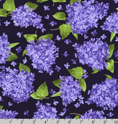 Elizabeth - Purple - A Flowerhouse Collection by Robert Kaufman | FLH-19893-6 PURPLE