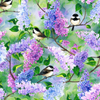 Spring Song Chickadee Focal Digital Print by Hoffman Fabrics