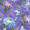 Graceful Garden Wisteria/Gold Metallic Fabric by Hoffman Fabrics S7730-229GGraceful Garden - Floral Garden Dragonfly Wisteria/Gold Metallic by Hoffman Fabrics S7730-229G