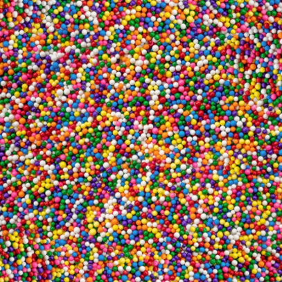 Cue the Confetti - Rainbow Beads/Sprinkles by Hoffman Fabrics S4792-181-Rainbow