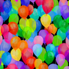 Cue the Confetti - Multicolor Balloons by Hoffman Fabrics S4789-130-Multi