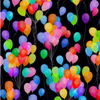 Cue the Confetti - Multicolor Balloons by Hoffman Fabrics S4790-130-Multi