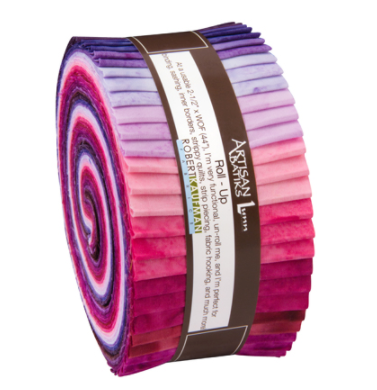 Robert Kaufman Artisan Batiks Prisma Dyes Plum Perfect Colorstory Roll Up/Jelly Roll