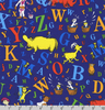 Robert Kaufman Dr Seuss ABC Fabric - Cotton Designer Fabrics ADE-74350-9 NAVY