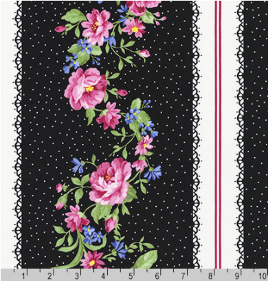 Flowerhouse Collection Pretty Sweet Black by Robert Kaufman | FLH-20149-2
