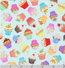 Sweet Tooth - Cupcakes on Mint by Robert Kaufman | Novelty Prints | AMKD-19827-32 MINT
