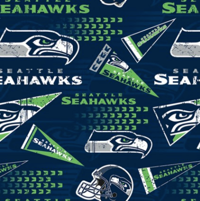 Licensed National Football League Cotton Fabrics | Seattle Seahawks