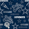 Licensed National Football League Cotton Fabrics | Dallas Cowboys