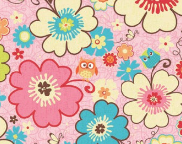 Riley Blake - Happy Flappers - Main Floral Pink C4020-PINK