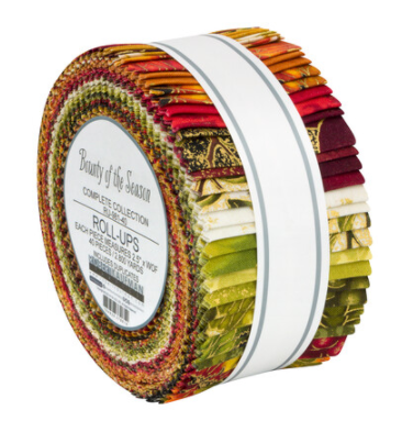 Bounty of the Season Roll Up/Jelly Roll by Robert Kaufman RU-981-40