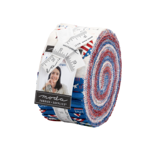 America The Beautiful Jelly Roll by Deb Strain for Moda Fabrics | Precuts
