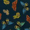Cotton + Steel - English Garden - Monarch Navy Metallic Canvas Fabric AB8065-022