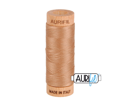 Aurifil 80wt Cotton Thread #2340 Cafe Au Lait