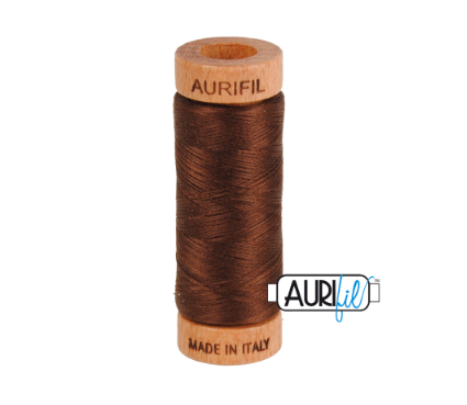 Aurifil 80wt Cotton Thread #2360 Chocolate
