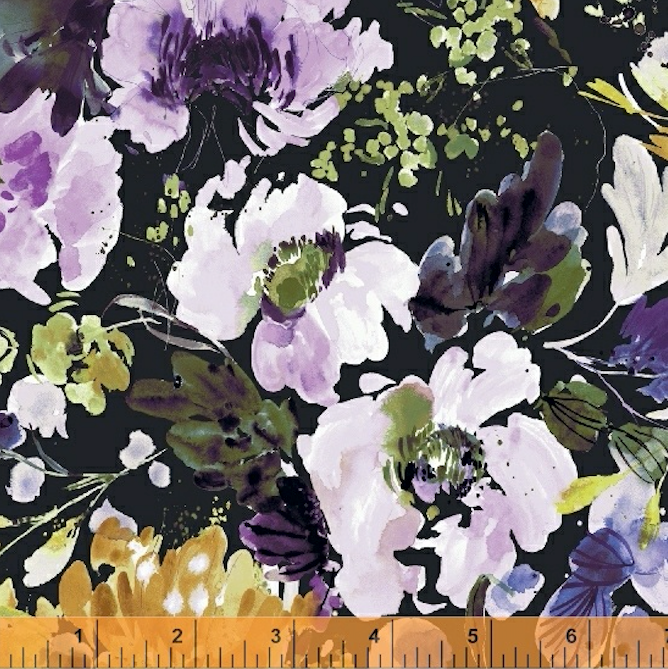 Field Day Bloom Sycamore by Windham Fabrics | Designer Floral Fabrics