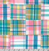 "25"" Remnant - Robert Kaufman - Yarn Dyed Nantucket Patchwork 2 Sorbet - Madras Plaid Patchwork"