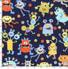 Monster Mash Navy by Michael Miller | Novelty Fabrics | CX6350-NAVY-D