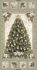 A Very Merry Christmas Tree Metallic Panel by Timeless Treasures