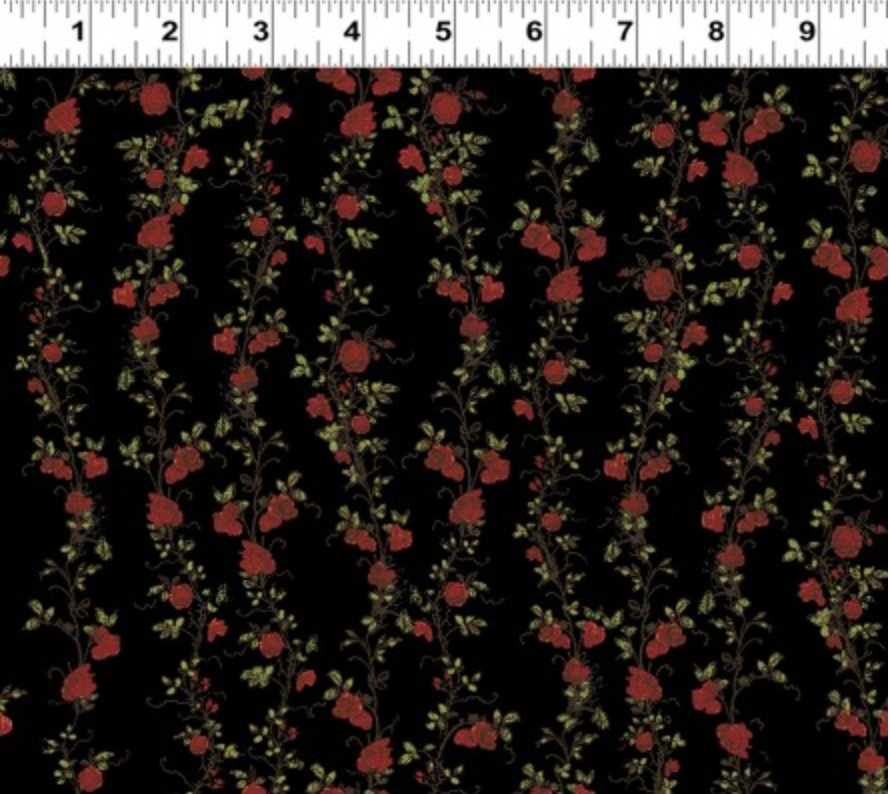 Clothworks - Everlasting Rose - Medium Stripe