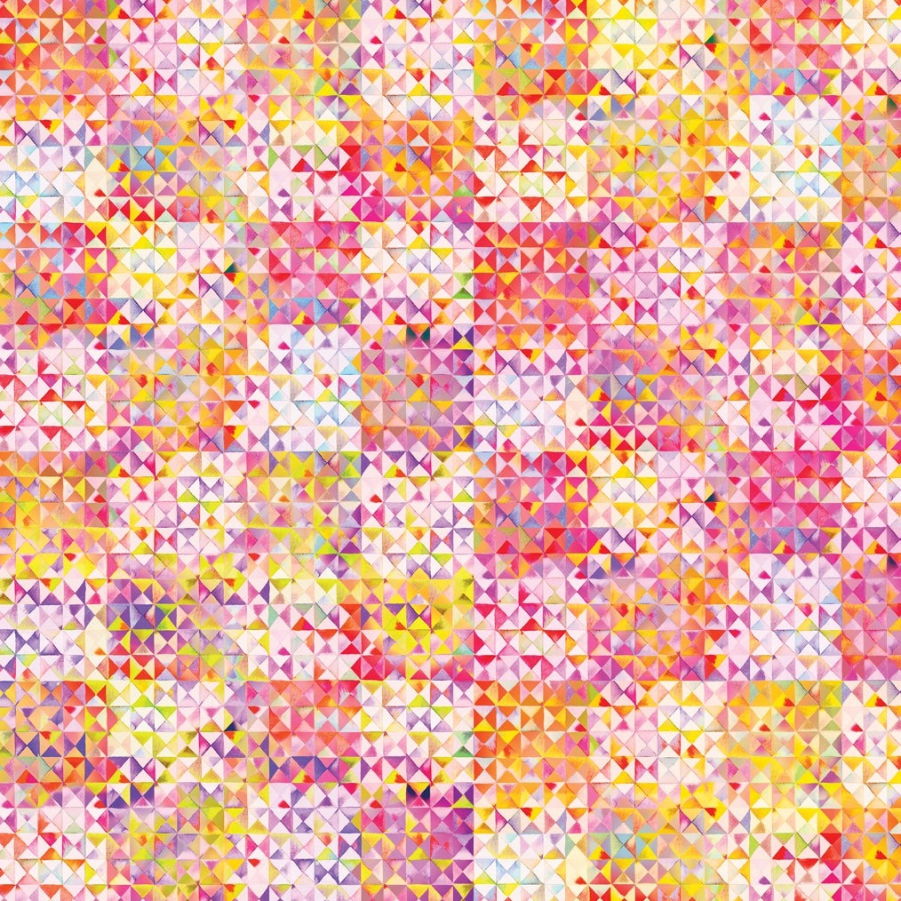 Moda Gradients 2 Parfait Triangles Pink |Digital Print Designer Fabric