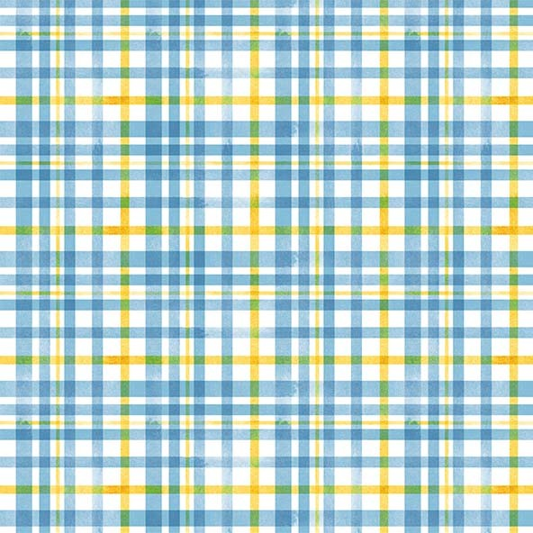 Queen Bee - Beehive Plaid Blue by Diane Kappa for Michael Miller Fabrics