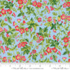 Moda Fabrics - Wildflowers IX Bluebell - Dogwood Blossom Light Blue