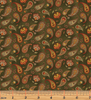 Benartex - Pumpkin Patch - Country Paisley Green