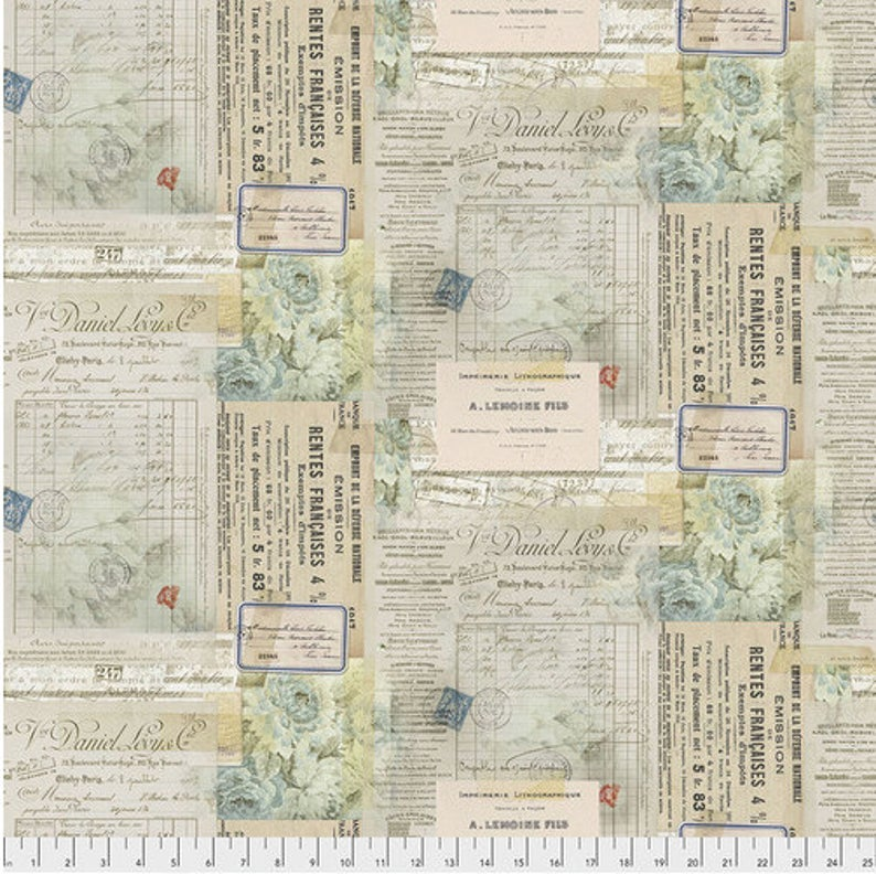 Memoranda 2 - Eclectic Elements Paris Multi by Tim Holtz for Free Spirit