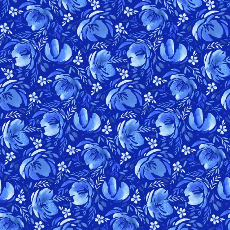 Bequest Tapestry Velvet Blue by RJR 3586-001 | Royal Motif Fabrics