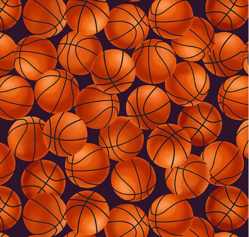 Love Of Game - Basketballs by Blank Quilting | Sports Fabrics
