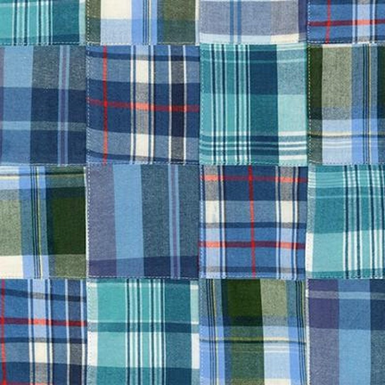 Yarn Dyed Nantucket Patchwork Retro Madras Plaid by Robert Kaufman