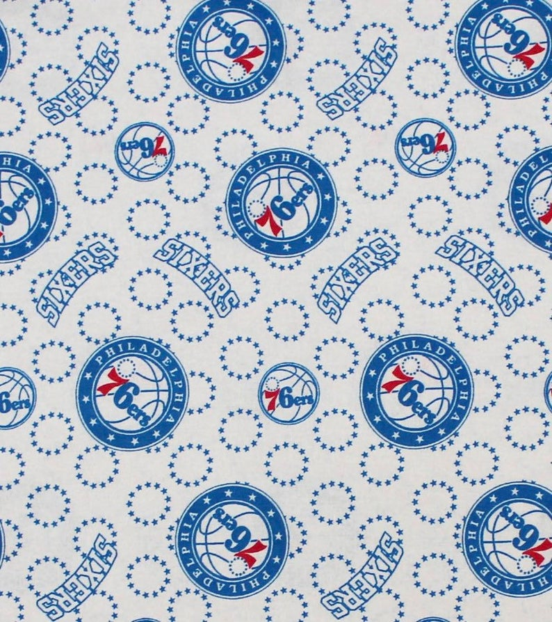 Licensed NBA (National Basketball Assoc.) Philadelphia 76ers by Camelot Fabrics