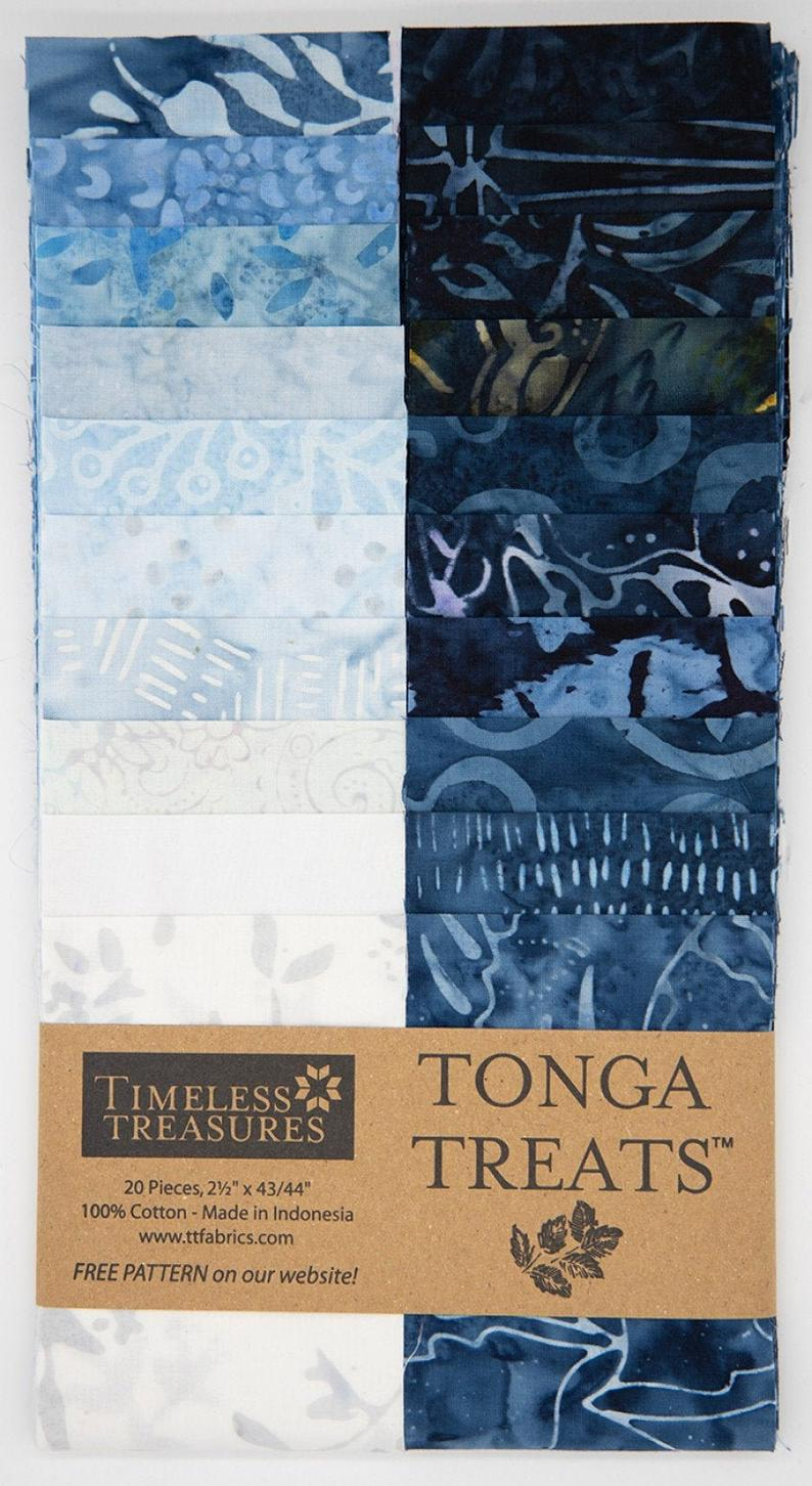 Tonga Treat Blue Moon Strips Junior by Timeless Treasures | Royal Motif Fabrics