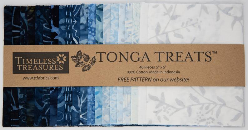 Timeless Treasures - Tonga Treat Blue Moon Charm PackTimeless Treasures - Tonga Treat Blue Moon Charm Pack | Royal Motif Fabrics