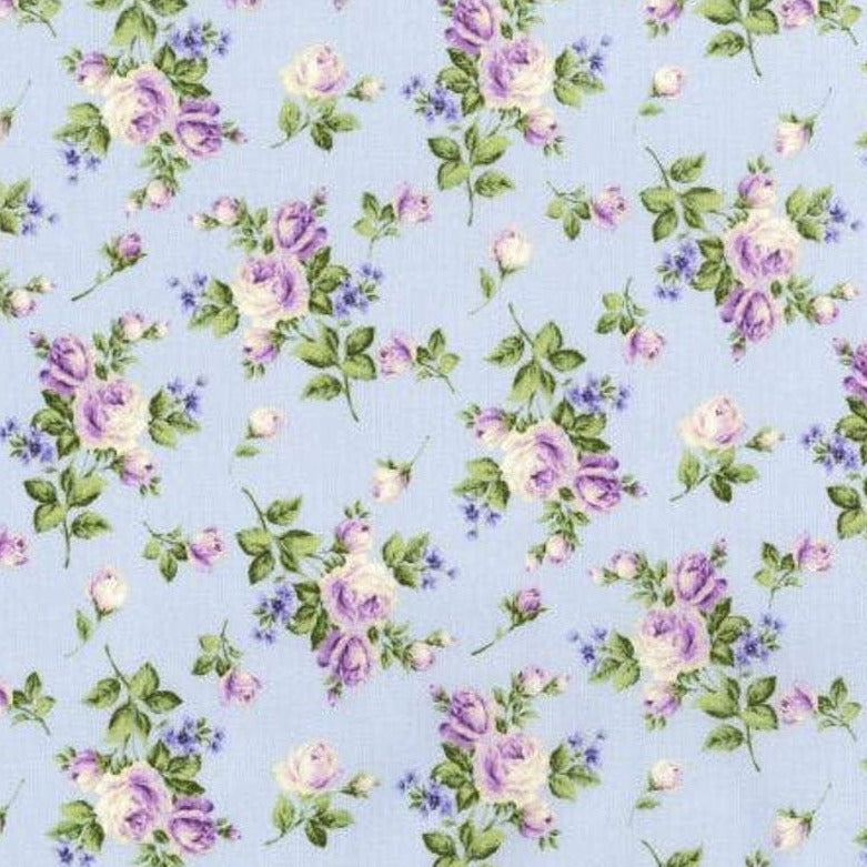 Afternoon in the Attic Heirloom Florals Lavender 3145-001 by RJR Fabrics