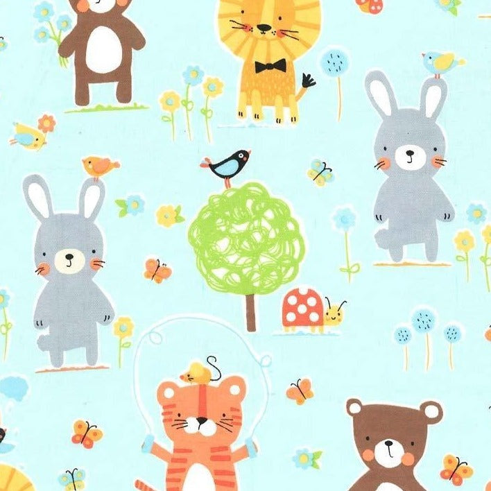 Flannel - Michael Miller Fabrics - Nature Babies on Flannel