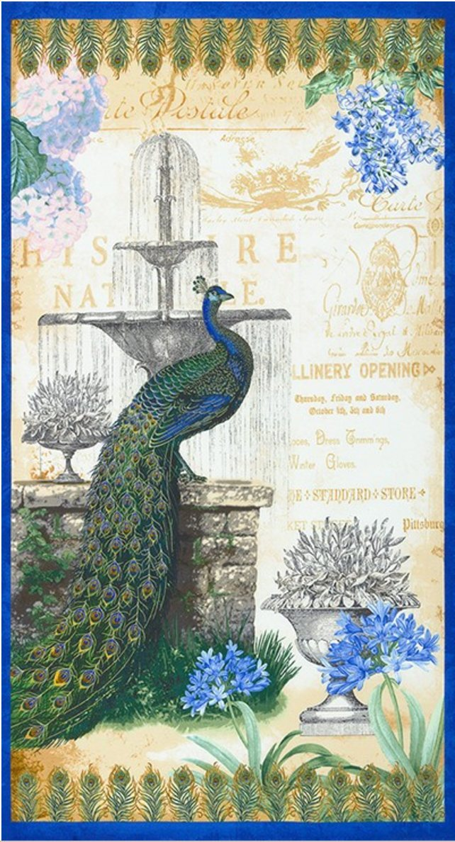Robert Kaufman - Palais Jardin Peacock Panel