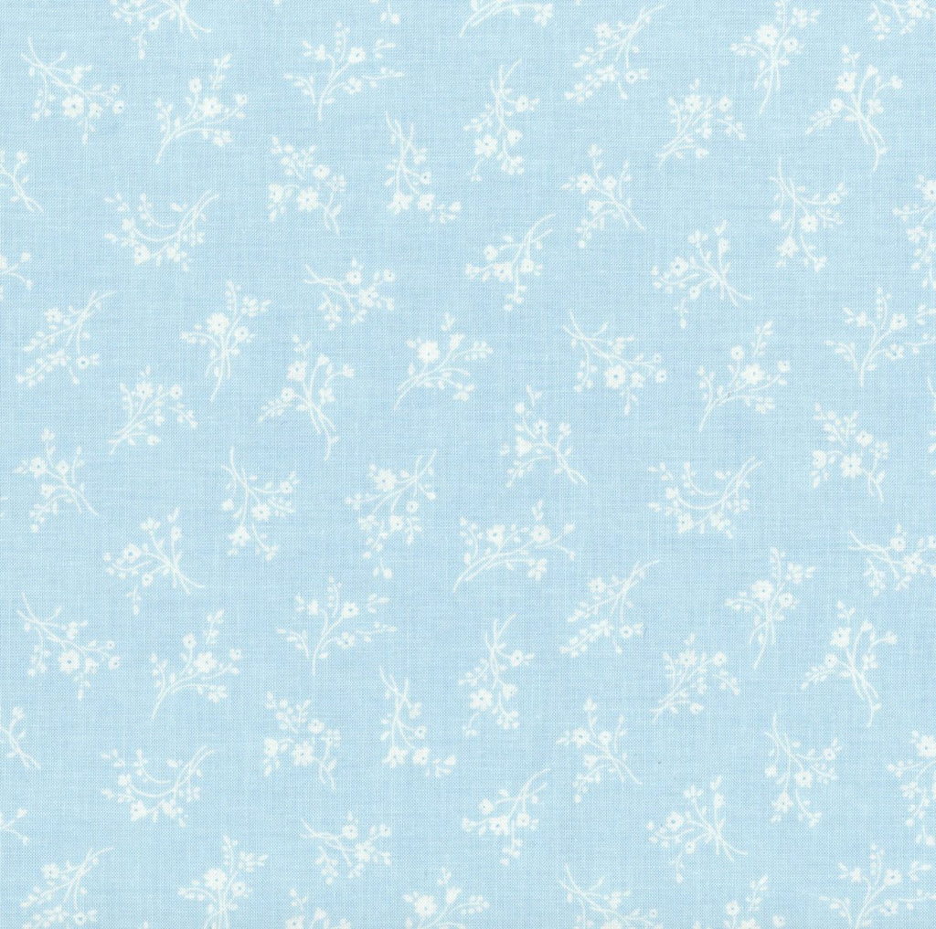 "10"" Remnant - RJR Fabrics - Afternoon in the Attic - Cameo Blossom Bluebell"