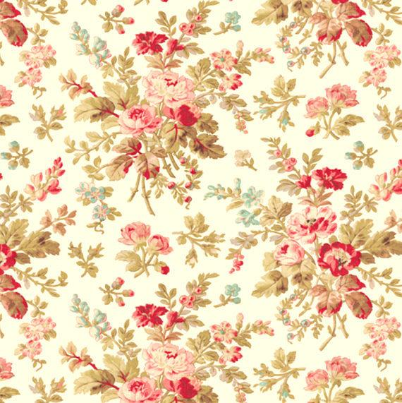 Aubrey Cream Floral 42647-1 by Windham | Discounted Designer Fabrics