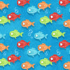 Henry Glass Fabrics - Side by Side - All Over Fish 6860 11