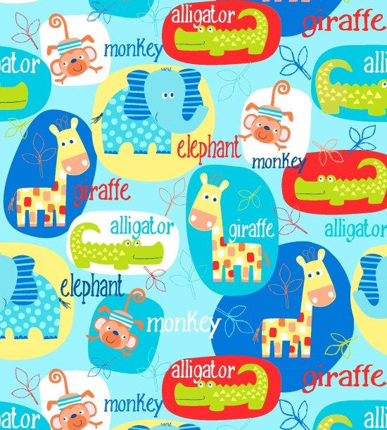 Studio E Fabrics - Swinging Safari - Animals in Circles 3696-11
