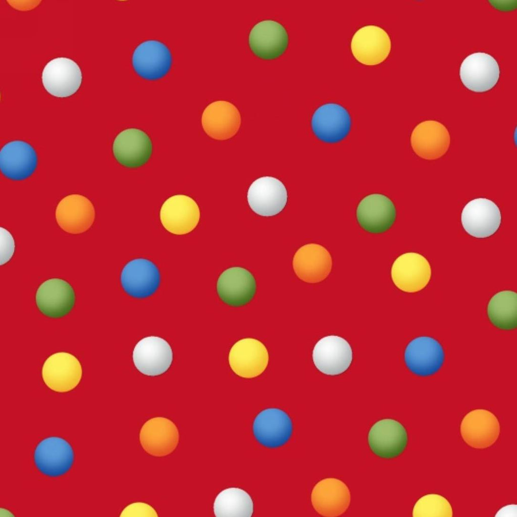 Henry Glass Fabrics - Bed Time Rhymes - Dots on Red
