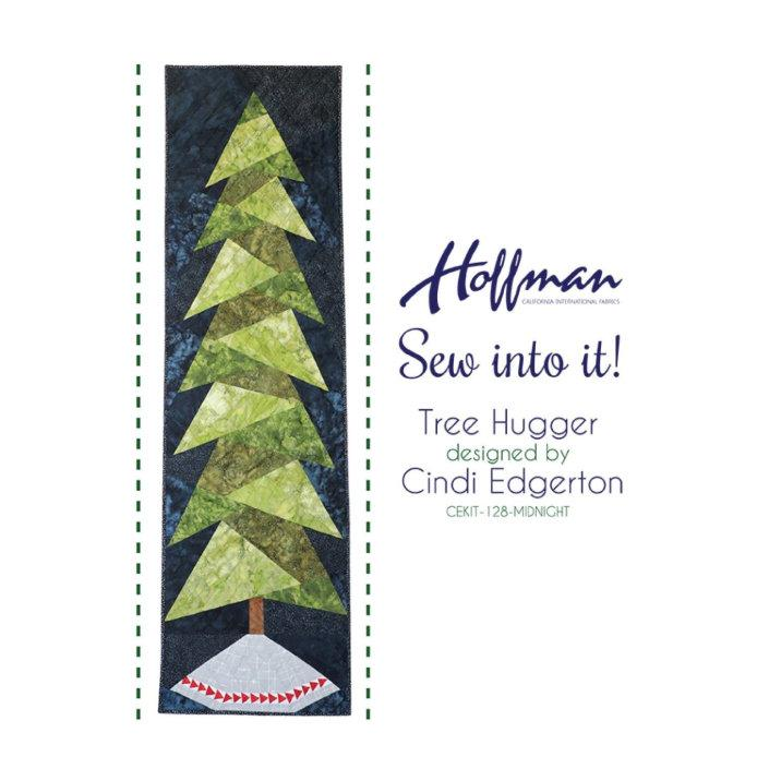 Sew into it Midnight Tree Hugger Quilt Kit by Hoffman Fabrics